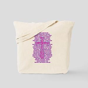 Names of Jesus in Scripture Tote Bag