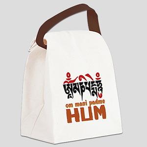 Om Mani Padme Hum Canvas Lunch Bag