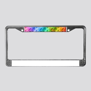 Crumpled Peacock Blue Pattern License Plate Frame