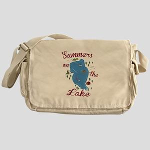 Summers On Lake Messenger Bag