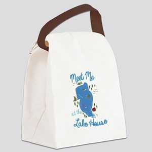 Lake House Canvas Lunch Bag