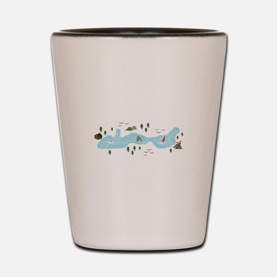 Lake Scene Shot Glass