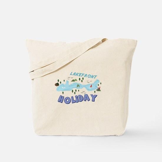 Lakefront Holiday Tote Bag