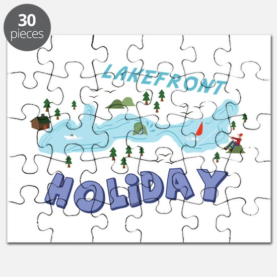 Lakefront Holiday Puzzle