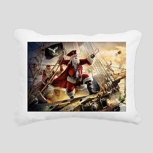 Santa Is A Pirate Rectangular Canvas Pillow