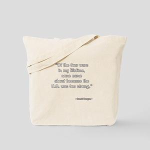 President Reagan on U.S. Strength Tote Bag