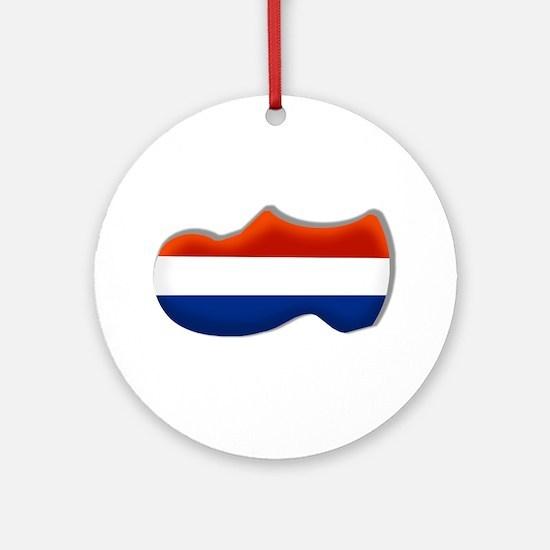 Dutch Clog Round Ornament