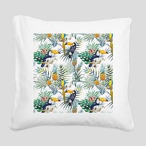 Vintage Chic Pinapple Tropica Square Canvas Pillow