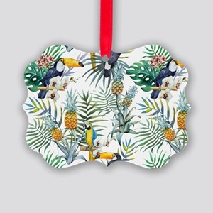 Vintage Chic Pinapple Tropical Hi Picture Ornament