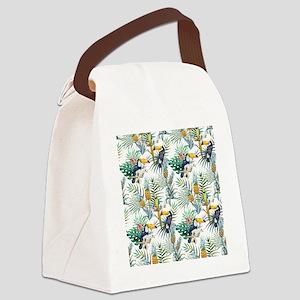 Vintage Chic Pinapple Tropical Hi Canvas Lunch Bag