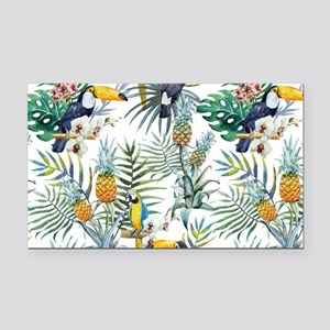 Vintage Chic Pinapple Tropica Rectangle Car Magnet