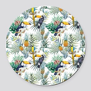 Vintage Chic Pinapple Tropical Hi Round Car Magnet