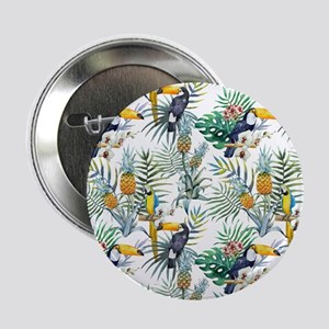 """Vintage Chic Pinapple Tropi 2.25"""" Button (10 pack)"""