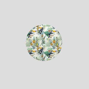 Vintage Chic Pinapple Tropical Hibiscu Mini Button