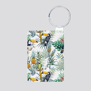 Vintage Chic Pinapple Trop Aluminum Photo Keychain
