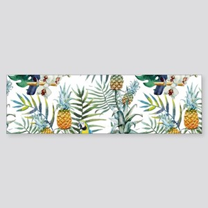 Vintage Chic Pinapple Tropical Hi Sticker (Bumper)