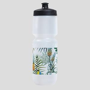 Vintage Chic Pinapple Tropical Hibis Sports Bottle
