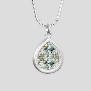 Vintage Chic Pinapple Tr Silver Teardrop Necklace