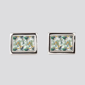 Vintage Chic Pinapple Tropic Rectangular Cufflinks