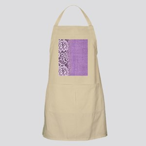 country chic purple burlap lace Apron