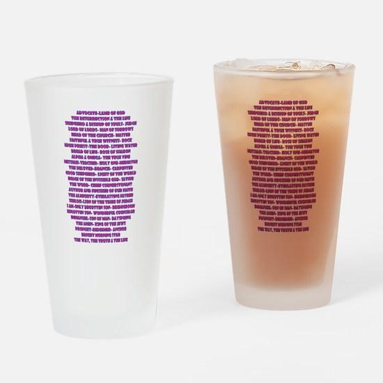 Titles of Jesus Christ Drinking Glass