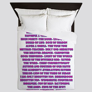 Titles of Jesus Christ Queen Duvet