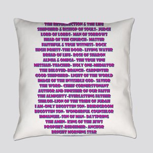Titles of Jesus Christ Everyday Pillow