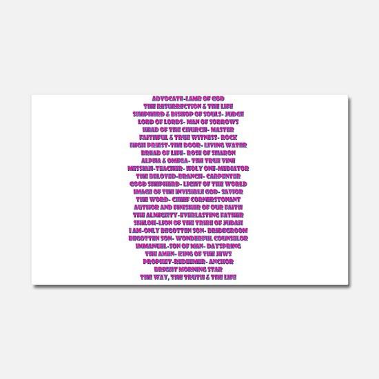 Titles of Jesus Christ Car Magnet 20 x 12