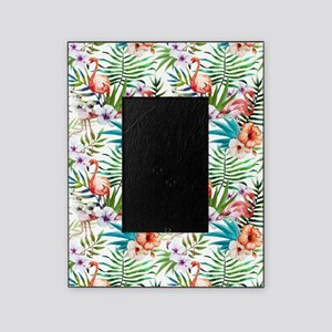 Vintage Chic Tropical Hibiscus Flora Picture Frame