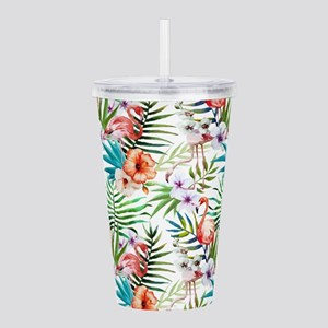 Vintage Chic Tropical Acrylic Double-wall Tumbler