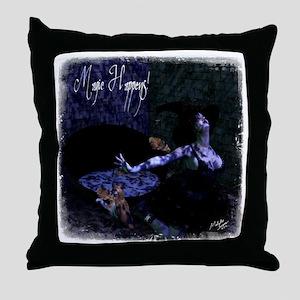 Magic Happens Throw Pillow