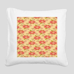 Bohemian Boho MOD Hippy Chic Square Canvas Pillow
