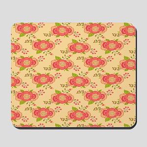 Bohemian Boho MOD Hippy Chic Flower Flor Mousepad