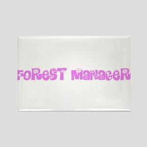 Forest Manager Pink Flower Design Magnets