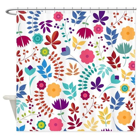 Cute Whimsical Floral Boho Chic Shower Curtain By BimbysPersonalizedGifts