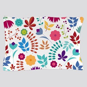Cute Whimsical Floral Boho Chic Pillow Case