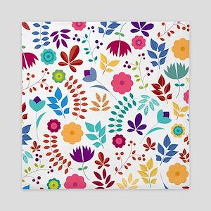 Cute Whimsical Floral Boho Chic Queen Duvet