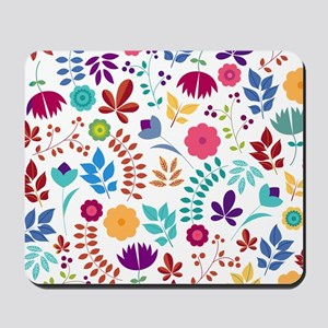 Cute Whimsical Floral Boho Chic Mousepad