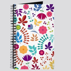 Cute Whimsical Floral Boho Chic Journal
