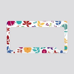 Cute Whimsical Floral Boho Ch License Plate Holder