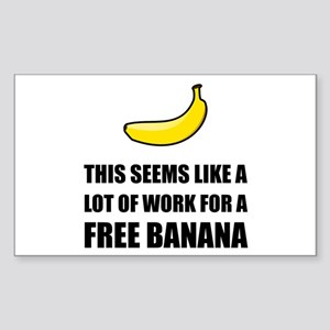 Free Banana Sticker
