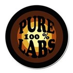 Pure Labs Round Car Magnet