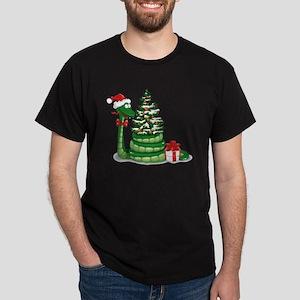 CUTE Christmas Snake Dark T-Shirt