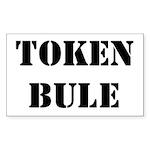 Token Bule Rectangle Sticker