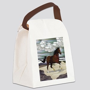 Stained glass horse Canvas Lunch Bag