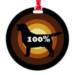 100% Labs Round Ornament