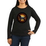 100% Labs Women's Long Sleeve Dark T-Shirt