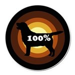 100% Labs Round Car Magnet