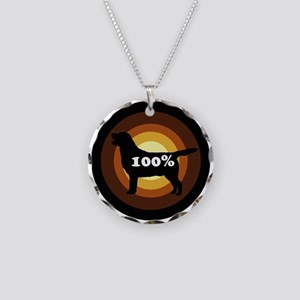 100% Labs Necklace Circle Charm