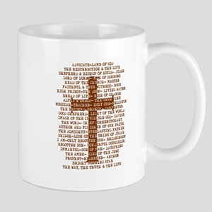 Names of Jesus with Cross 11 oz Ceramic Mug